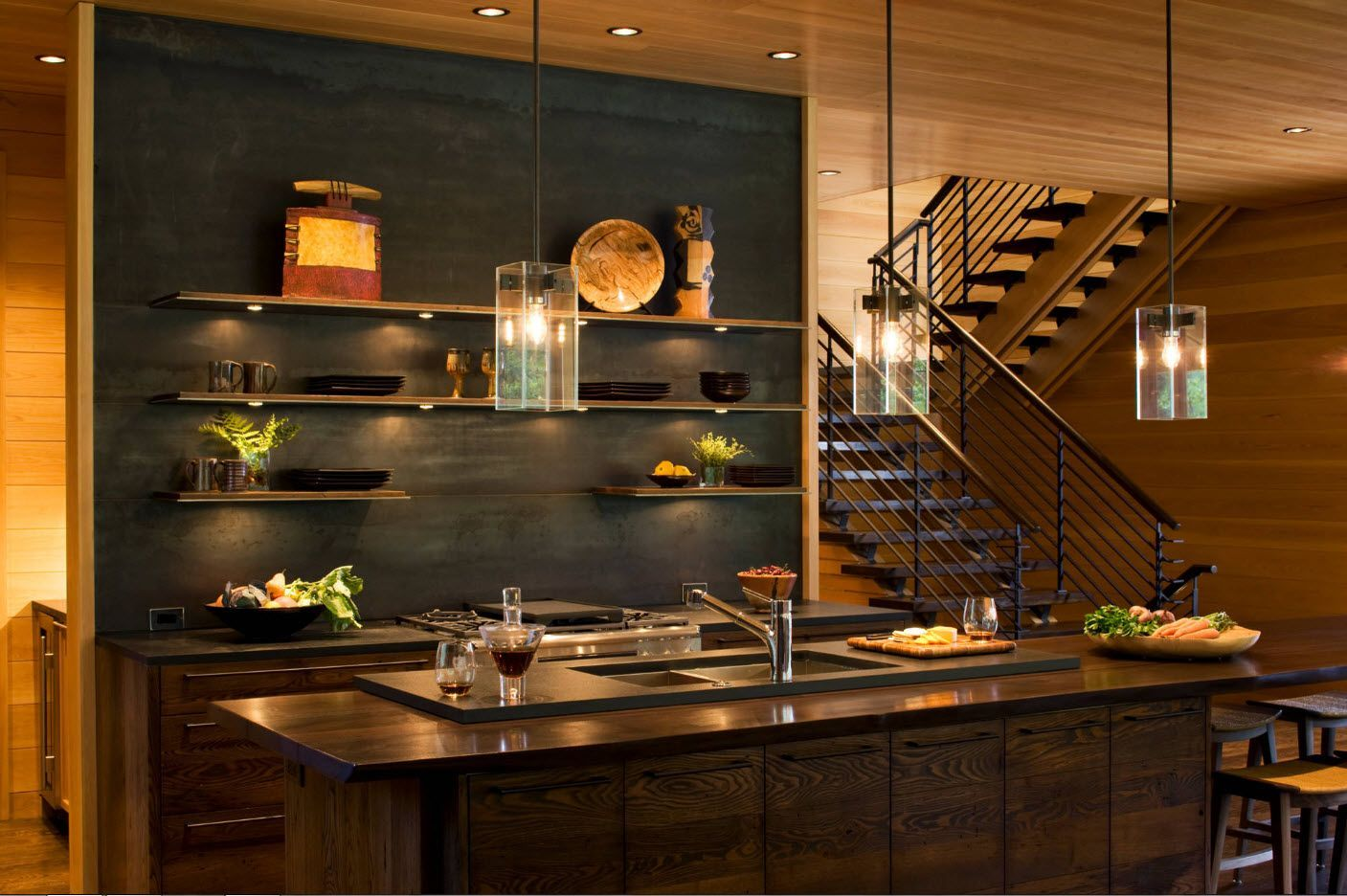 Fantasy kitchen interior 2017 with intuitive wooden palette