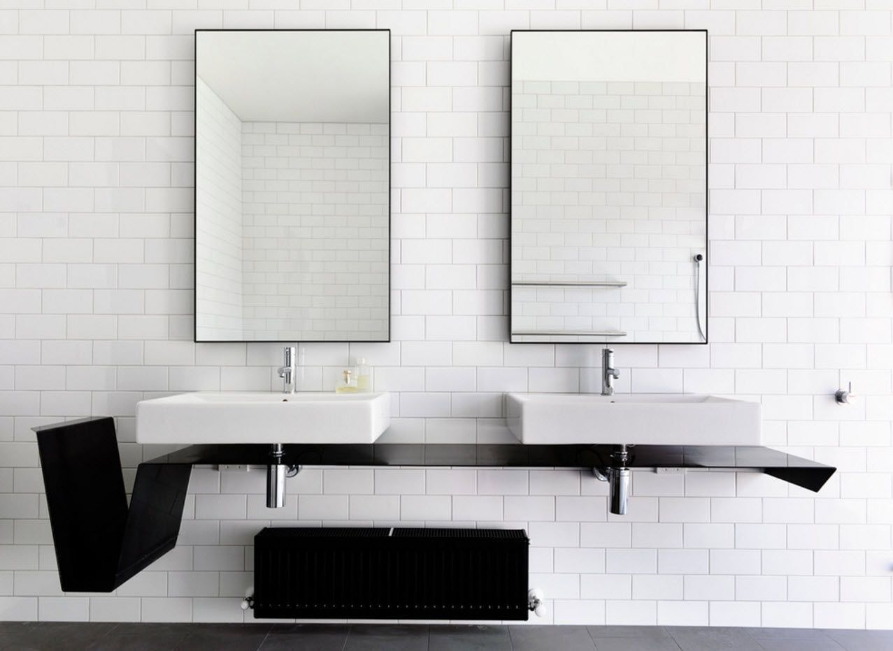 Bright industrial way of sink decoration