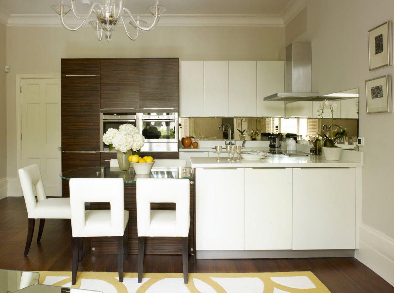 Strict lines design for cutting edge modern kitchen interior