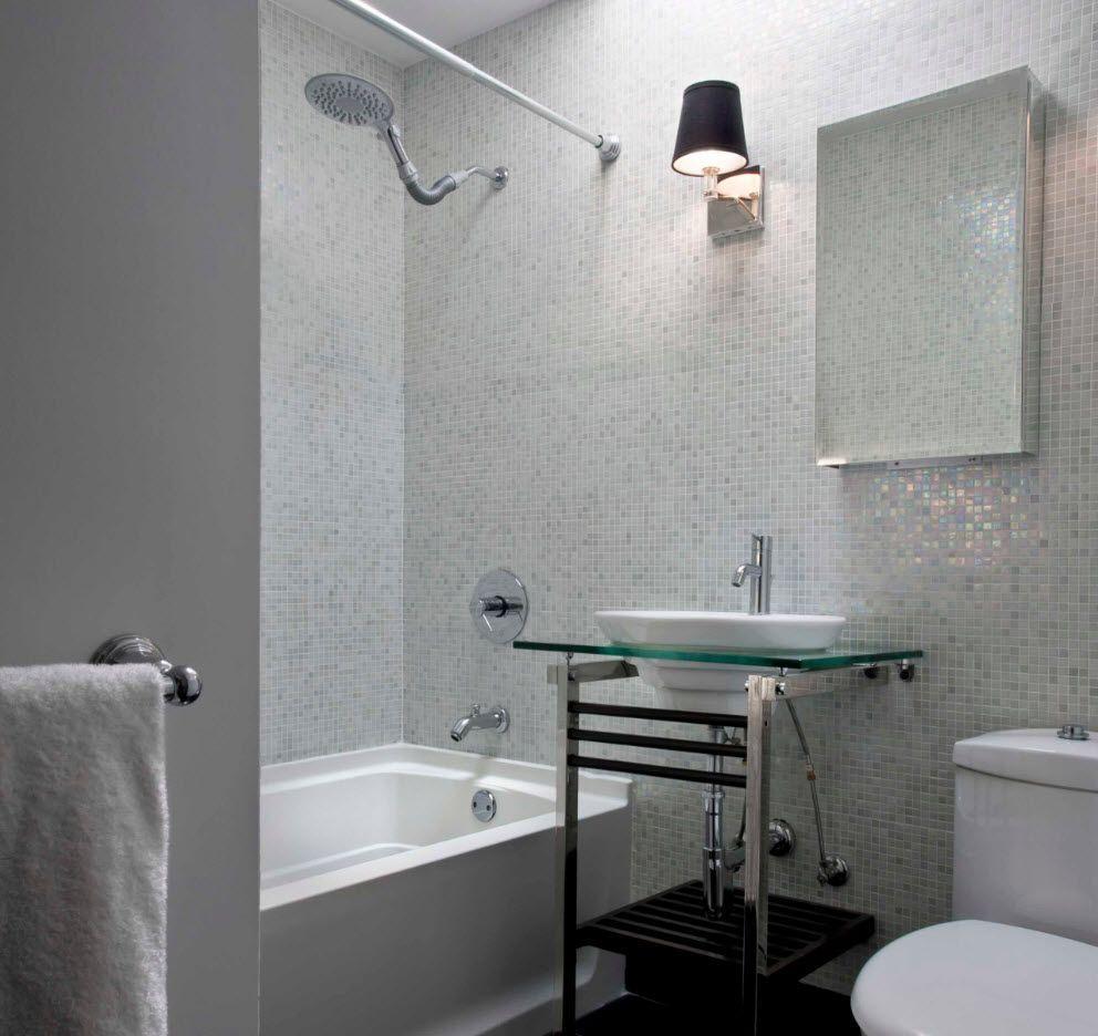Minimalistic design for small bathroom