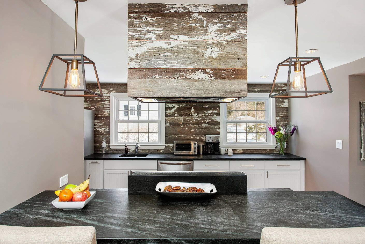 gray stone surfaces for the kitchen