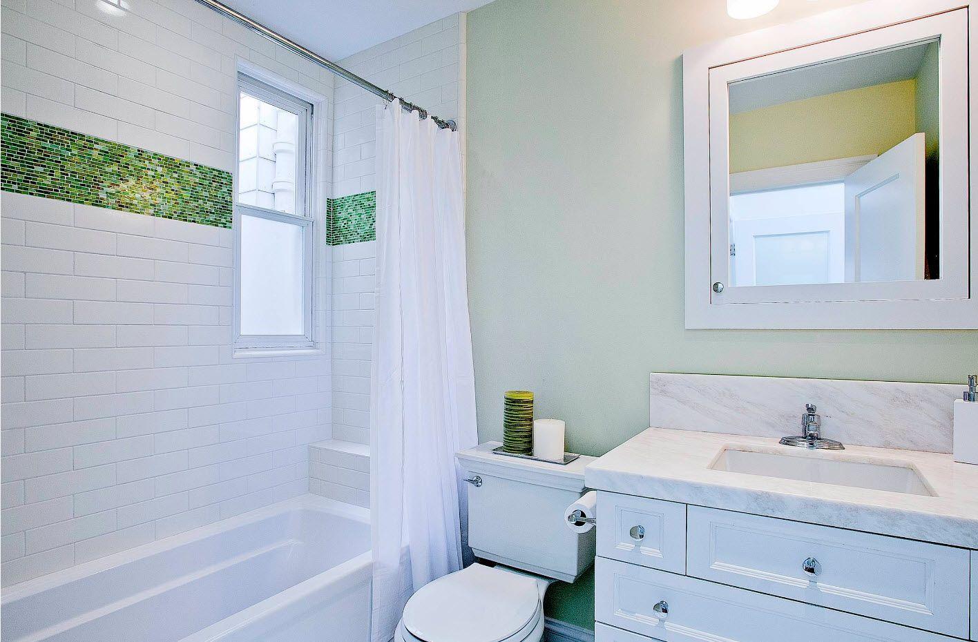 White neat functional bathroom