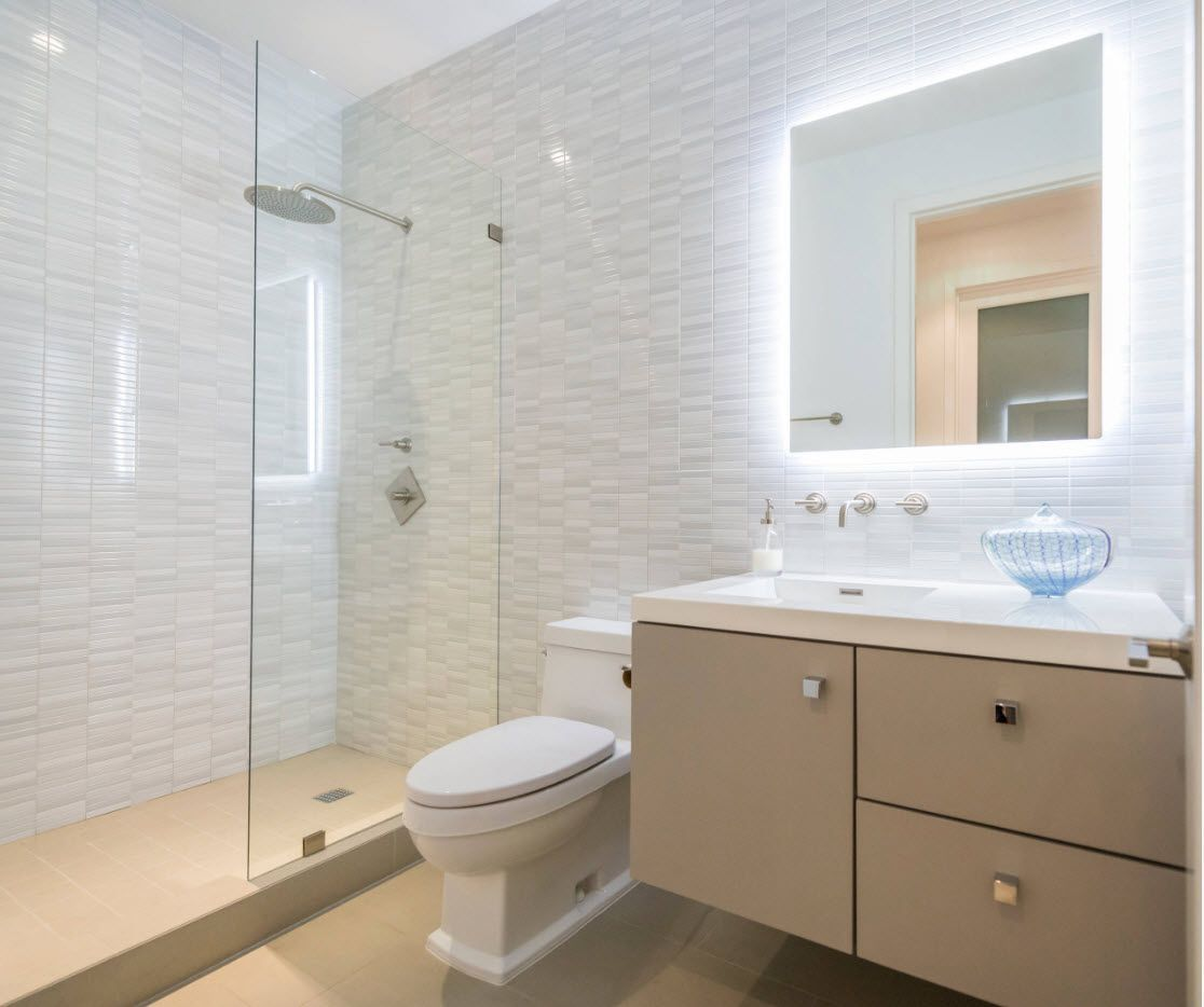 White textured tile finish