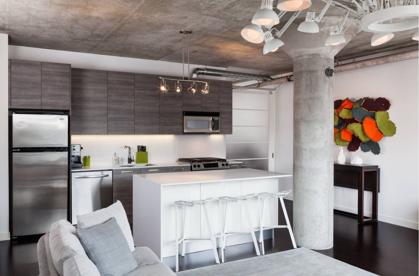 irresistible kitchen design of the kitchen looking like home theater