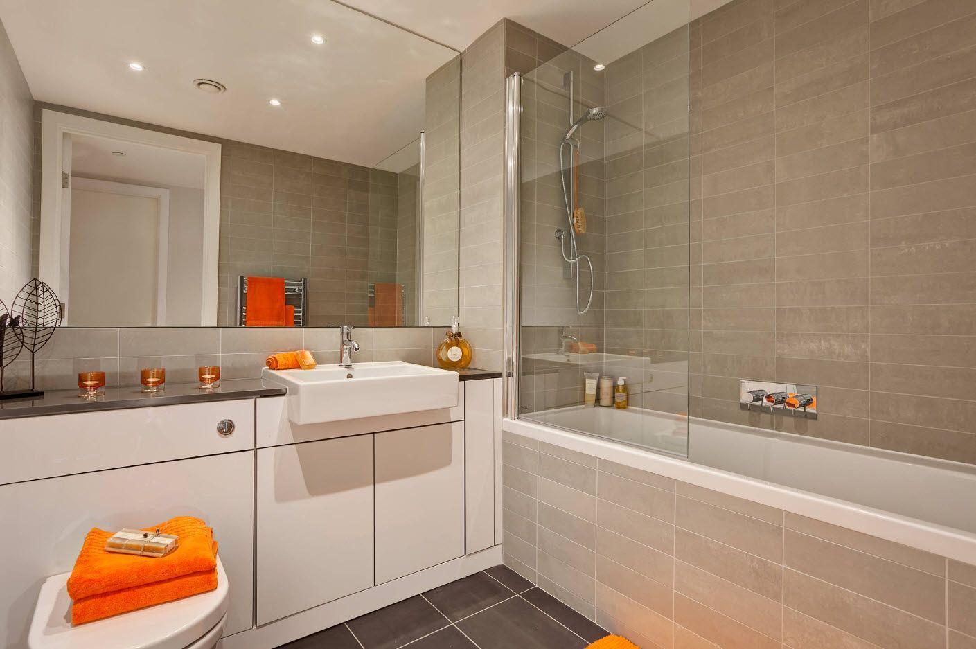 Small Bathroom Interior Space Optimization Ideas & Layout Photos 2017 grayish decoration