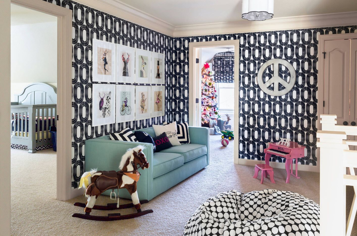 Kitsch styled interior for the child