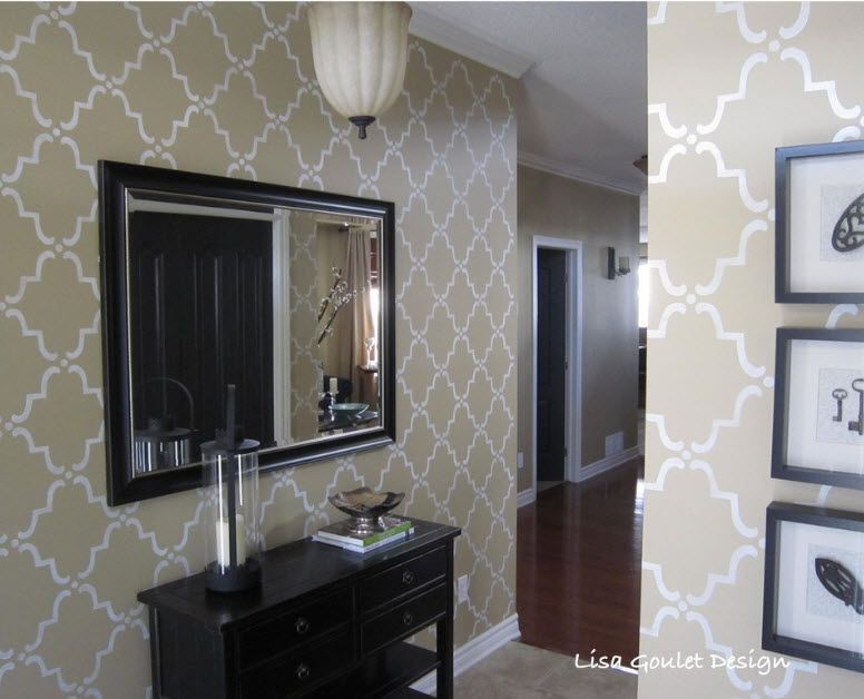 Mirror Interior Decoration. 50+ Design Ideas to Reflect Your Style. A bit of Classic wall finishing with the use Victorian symbolic on the wallpaper