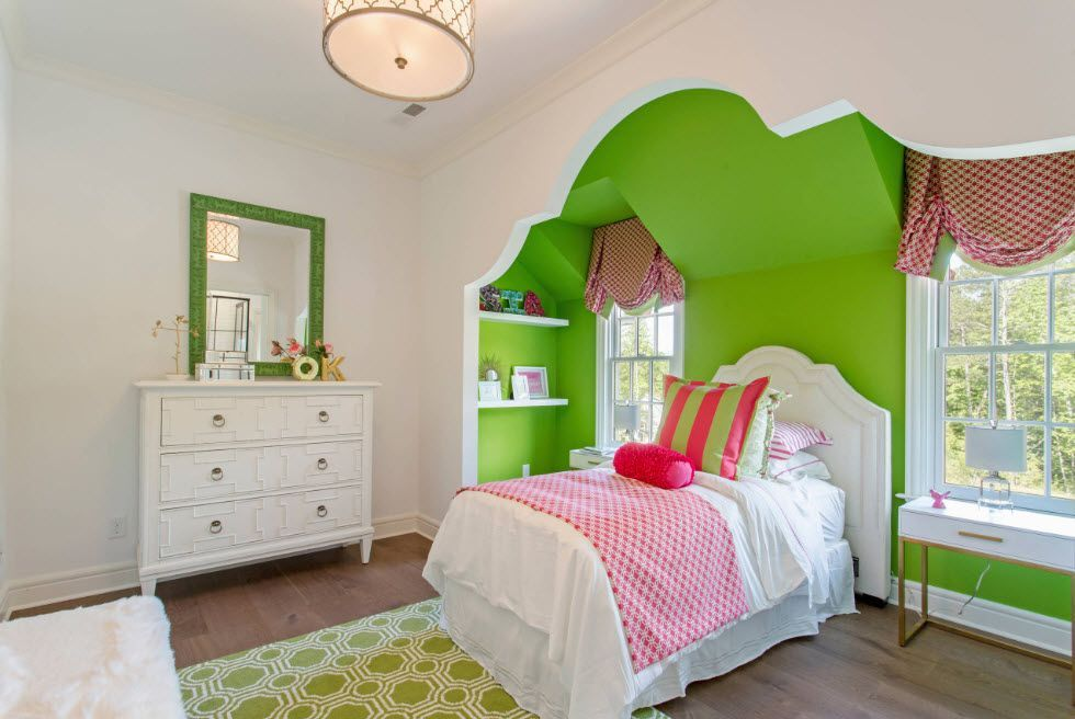 Mirror Interior Decoration. 50+ Design Ideas to Reflect Your Style. A little bit childish bold colorful atmosphere for sleeping room