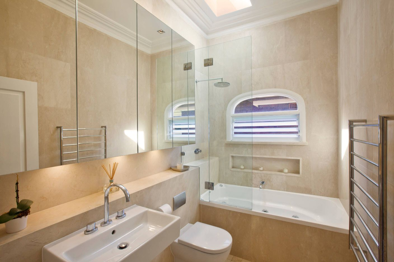 Mirror surfaces of the bathroom vanity