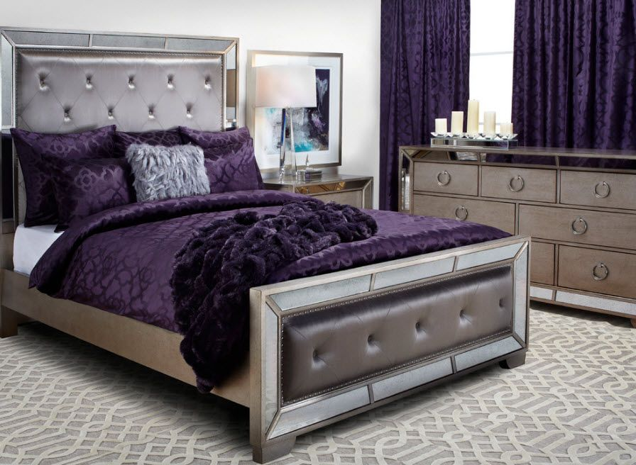 Quilted surfaces, white and brown alliance within one royal furnished bedroom