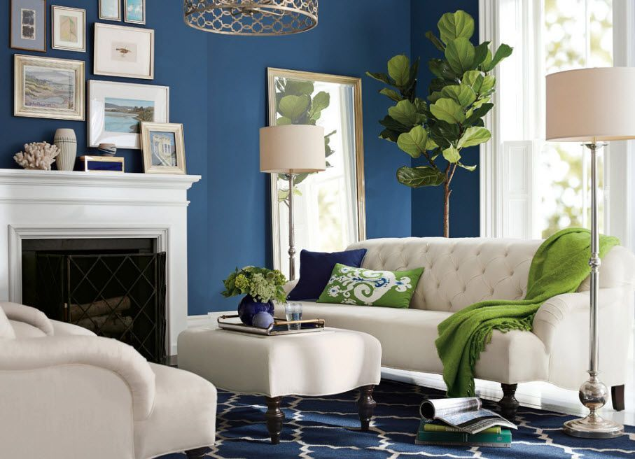Mirror Interior Decoration. 50+ Design Ideas to Reflect Your Style in the framework of Classic English atmosphere in blue