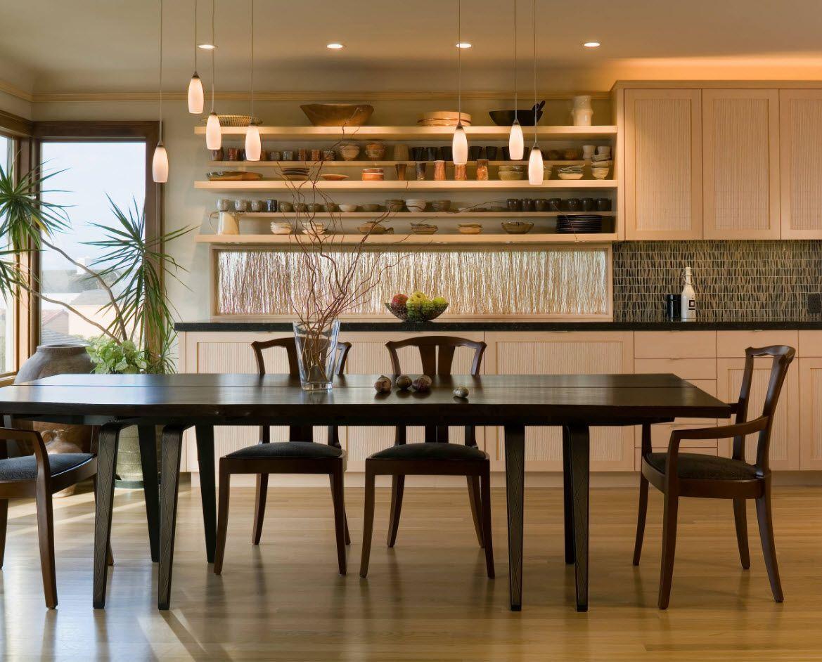 Black furniture for Contemporary kitchen