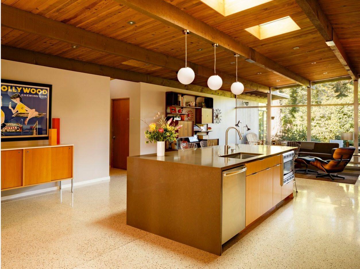orange tint for warm atnosphere of the kitchen