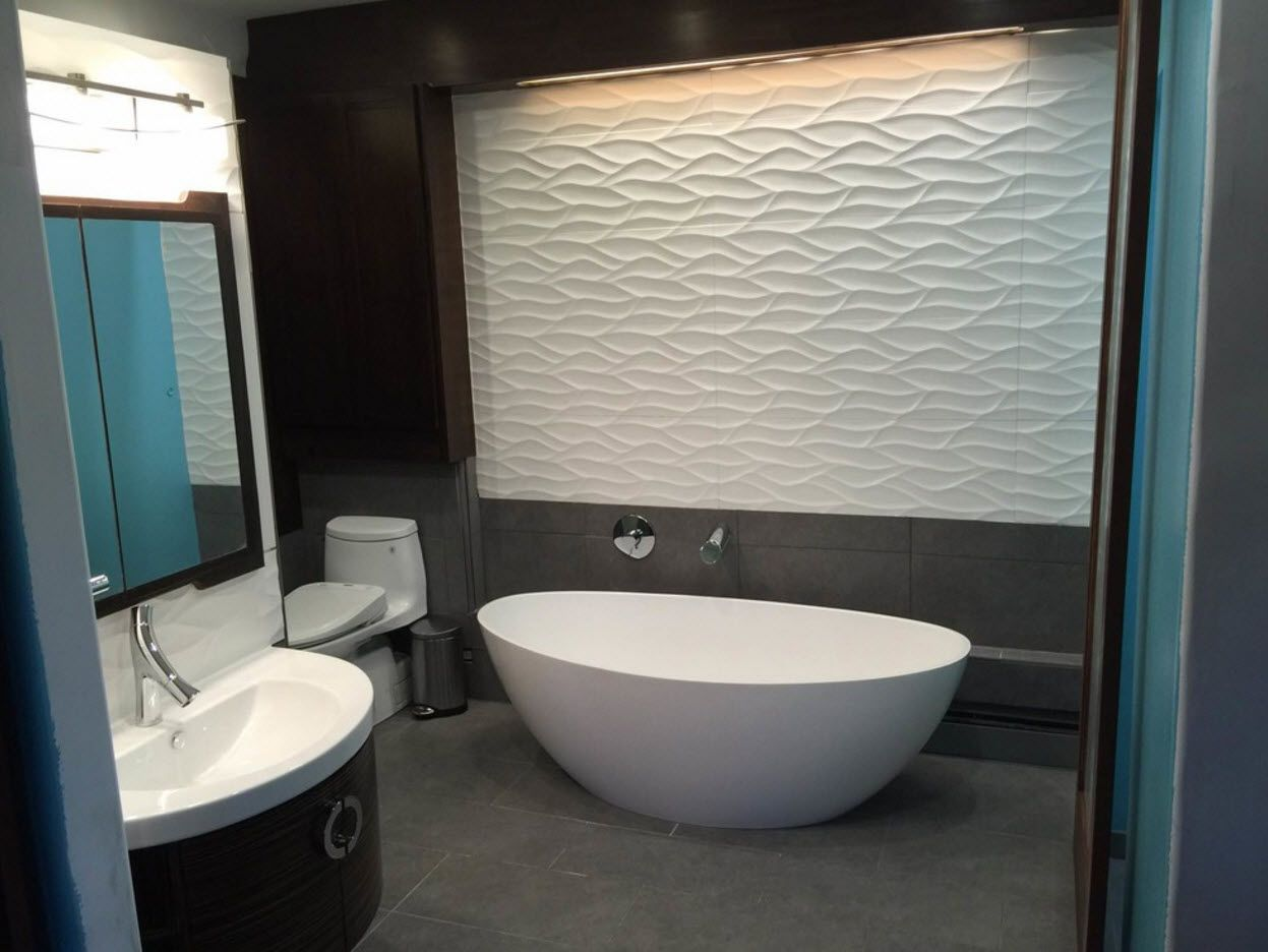 Accent wall with 3d rippling structure