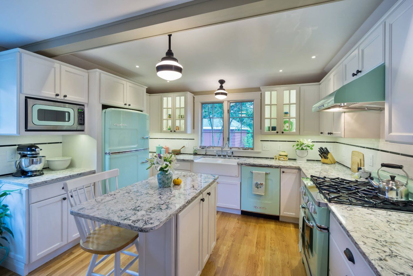 Cozy interior decoration for classic furnished kitchen
