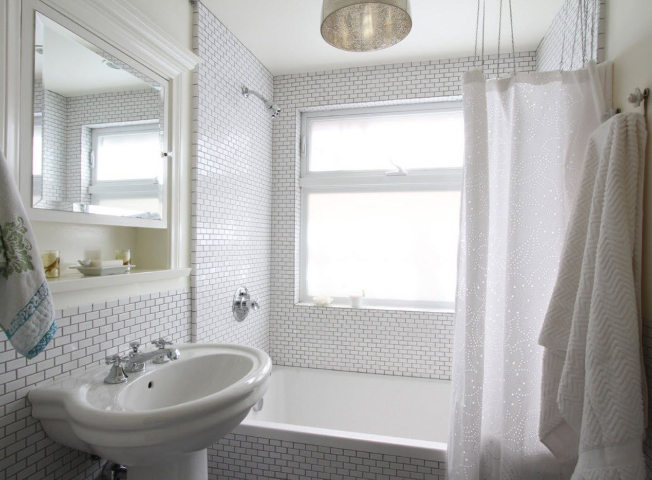 White 3D surface in the bathroom