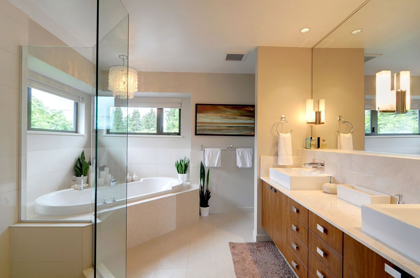 Bathroom Design Trends & Decoration Ideas 2017 with light wooden vanity