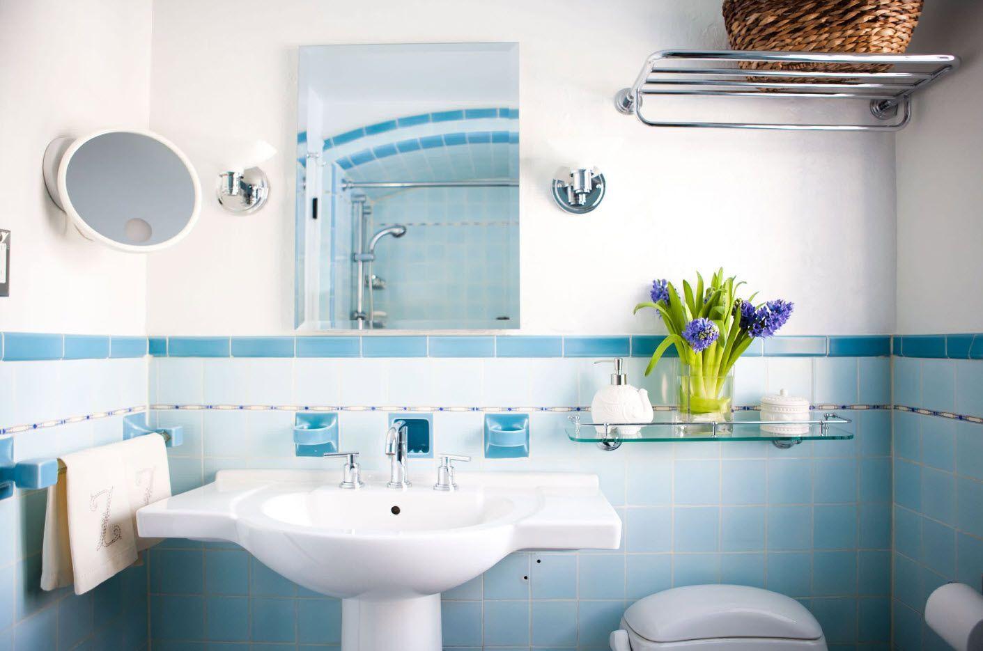 Blue marine theme for the small bath