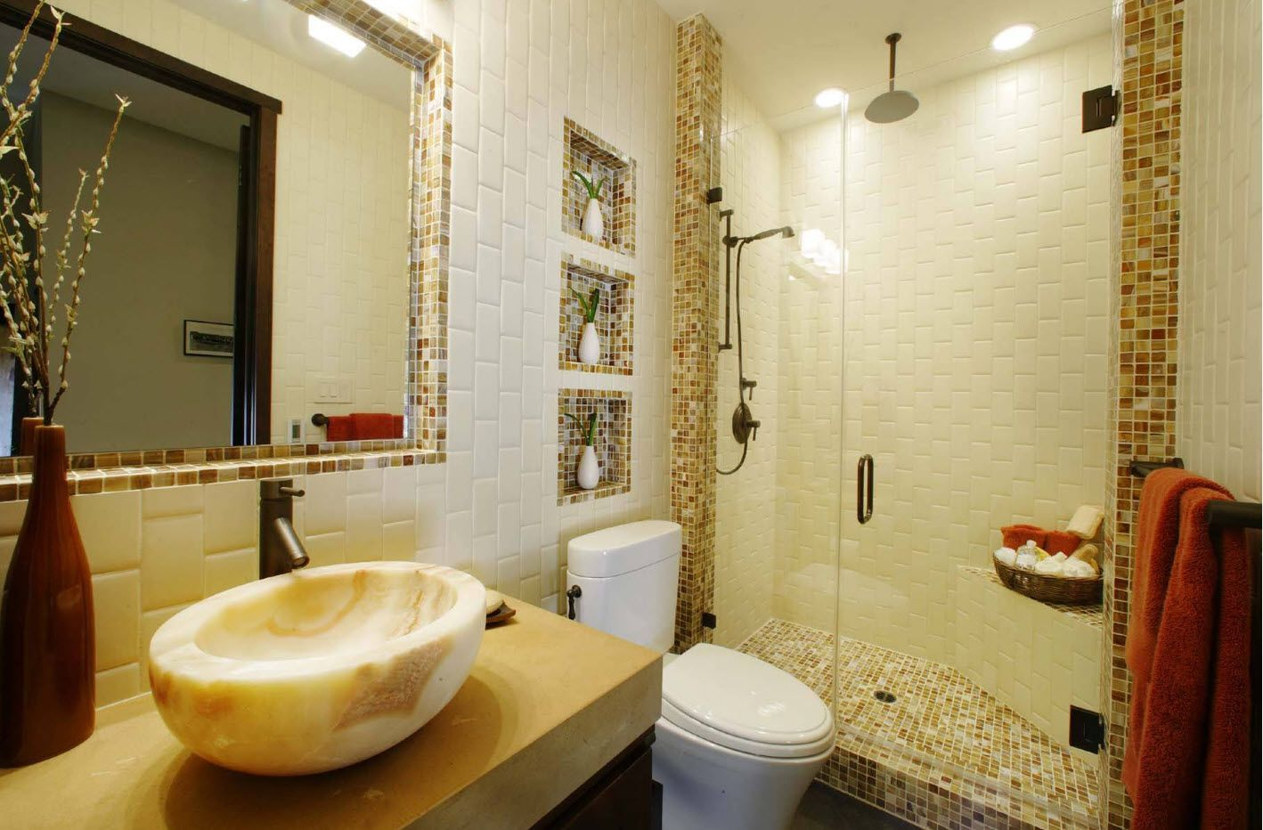 Sand natural mosaic brethes with eco style
