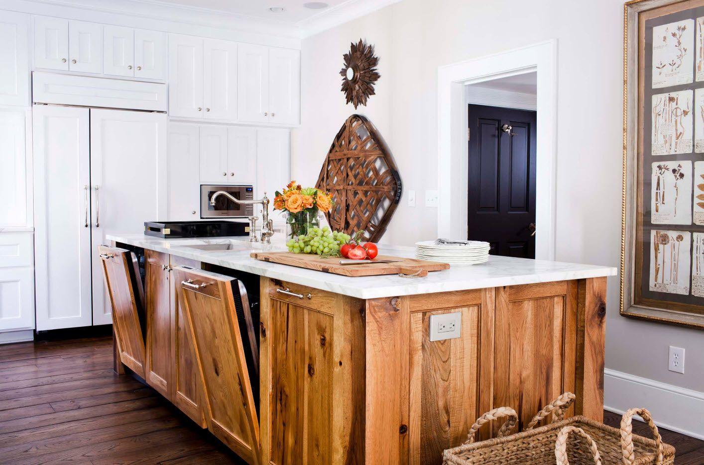 Kitchen Fashion Trends & Interior Design Ideas 2017. Totally wooden island