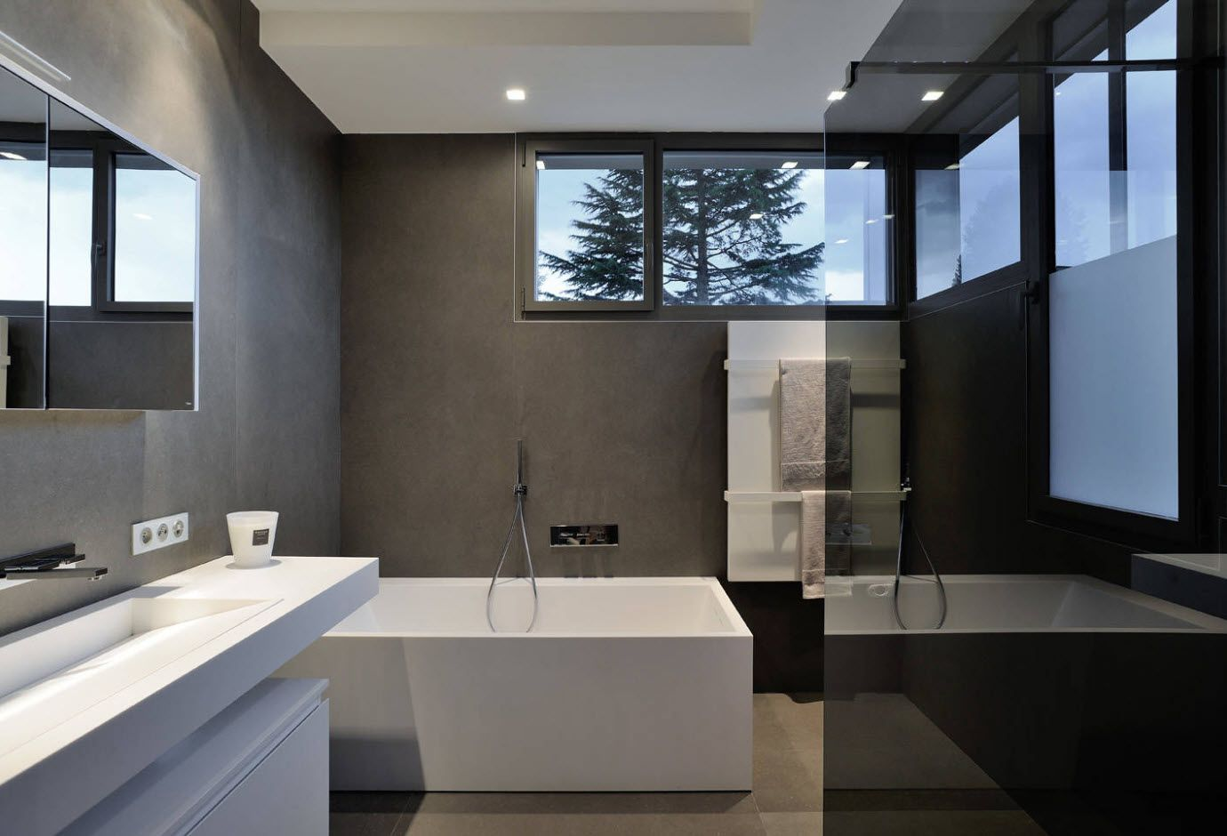 Dark gray and white accent in the futuristic strict lined design 2017