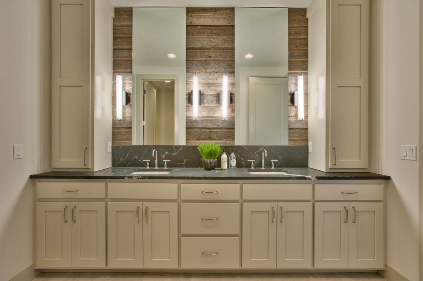 Coffee theme in the Classic styled bathroom for two