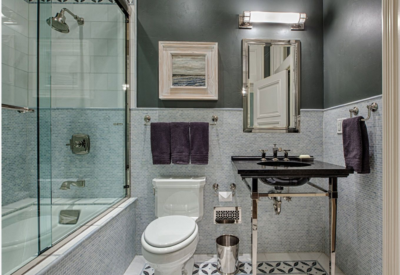 Vintage urban design ideas for small space fo the bathroom
