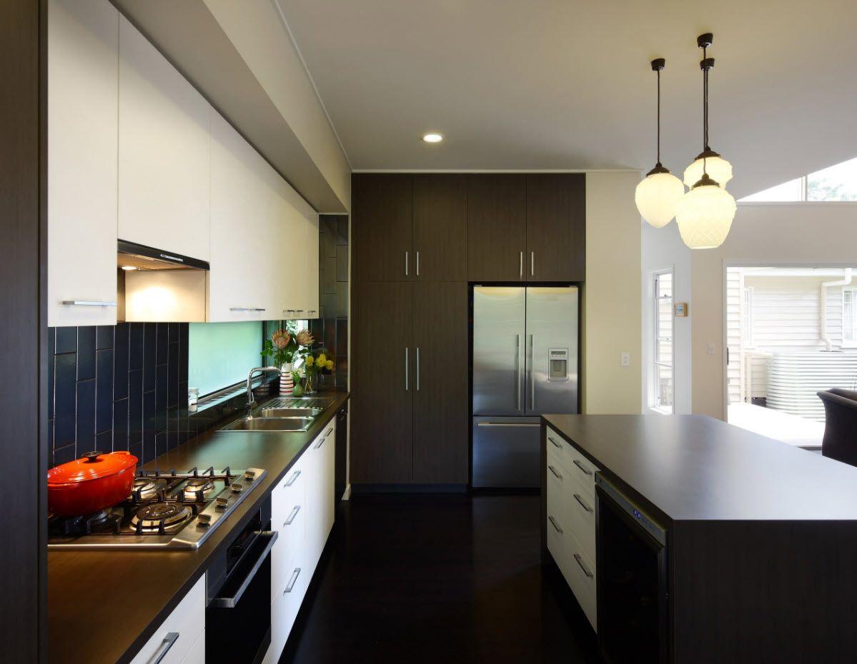 Dark gray interior decoration idea for kitchen 2017