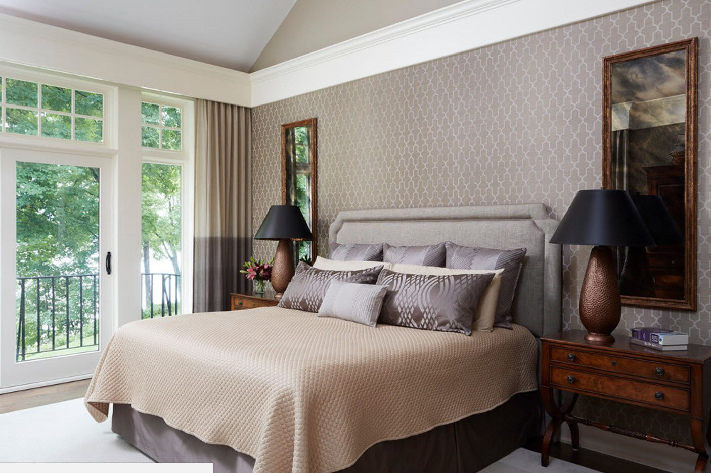 Gray combination in the modern bedroom