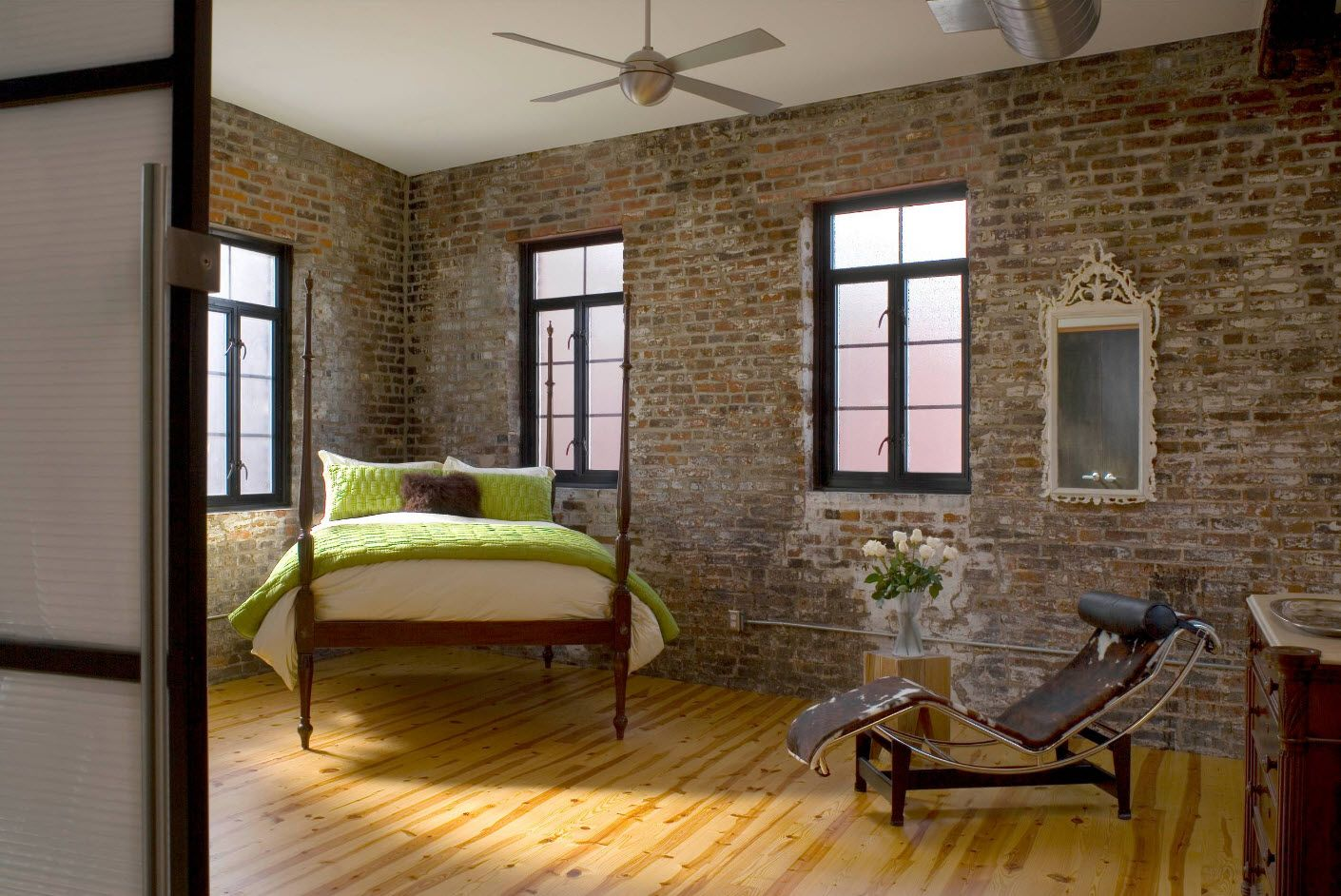 Apartment Interior Design Inspiration Ideas & Trends 2017. Brickwork and rough finish in Rustic style
