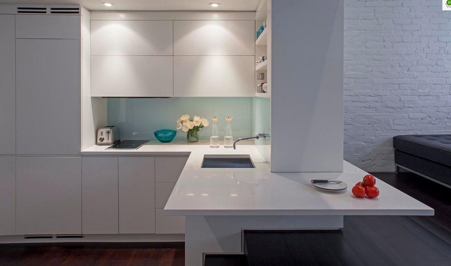 Apartment Interior Design Inspiration Ideas & Trends 2017. XXI centure trend - hi-tech plastic glance surfaces for kitchen