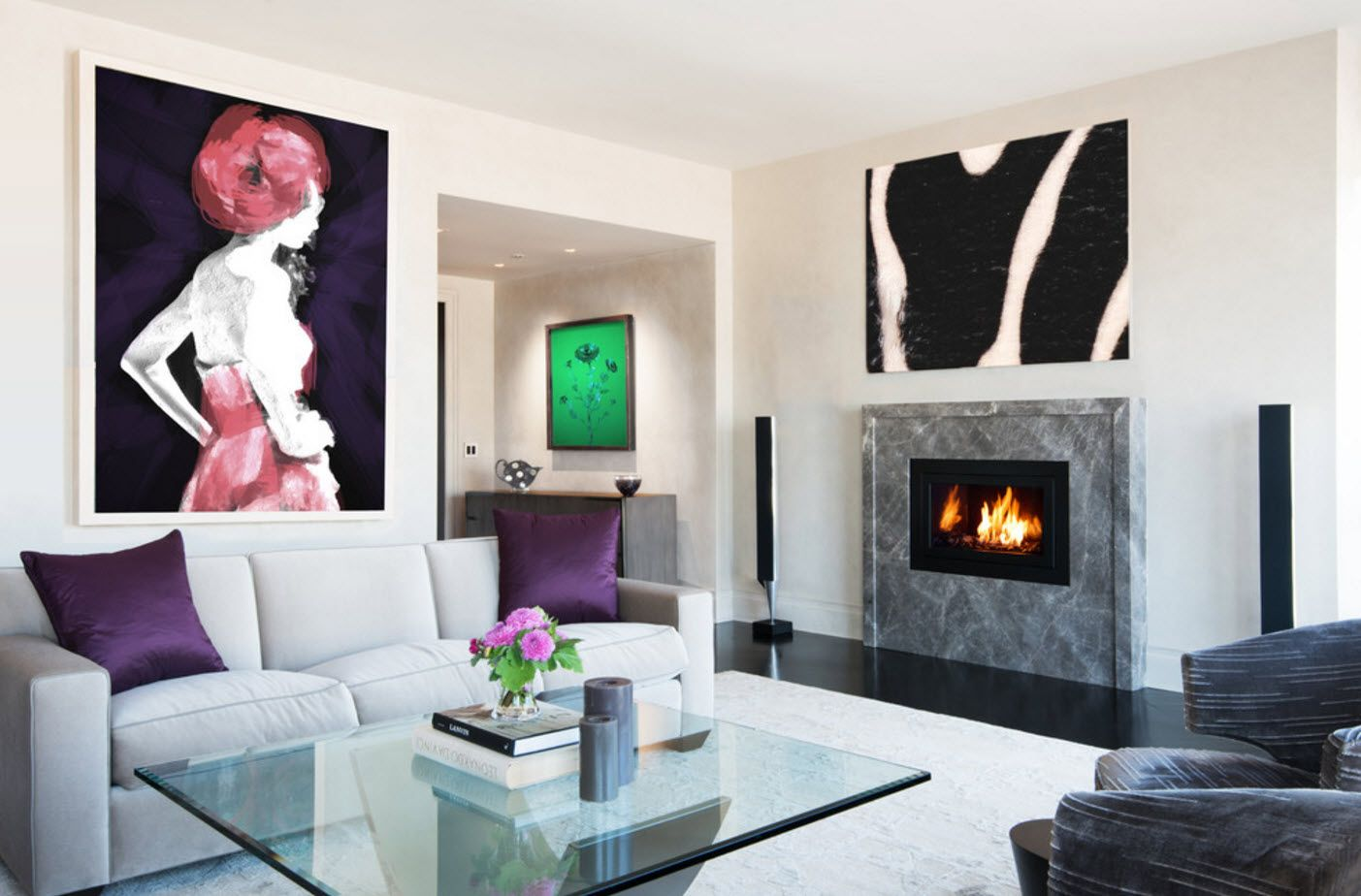 Impressionistic pictures to dilute the interior