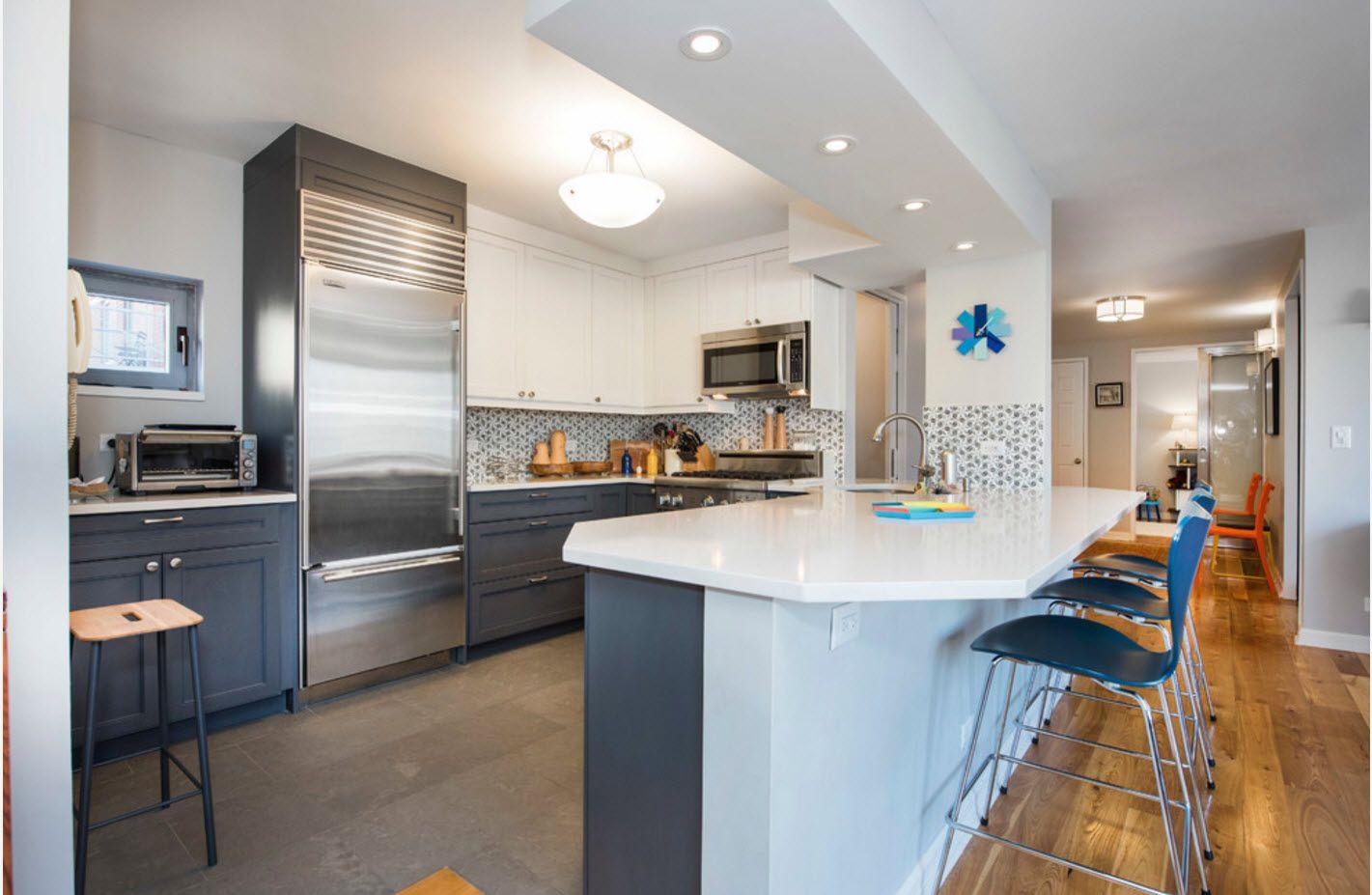 Apartment Interior Design Inspiration Ideas & Trends 2017. Master zoning in the light plastic interior