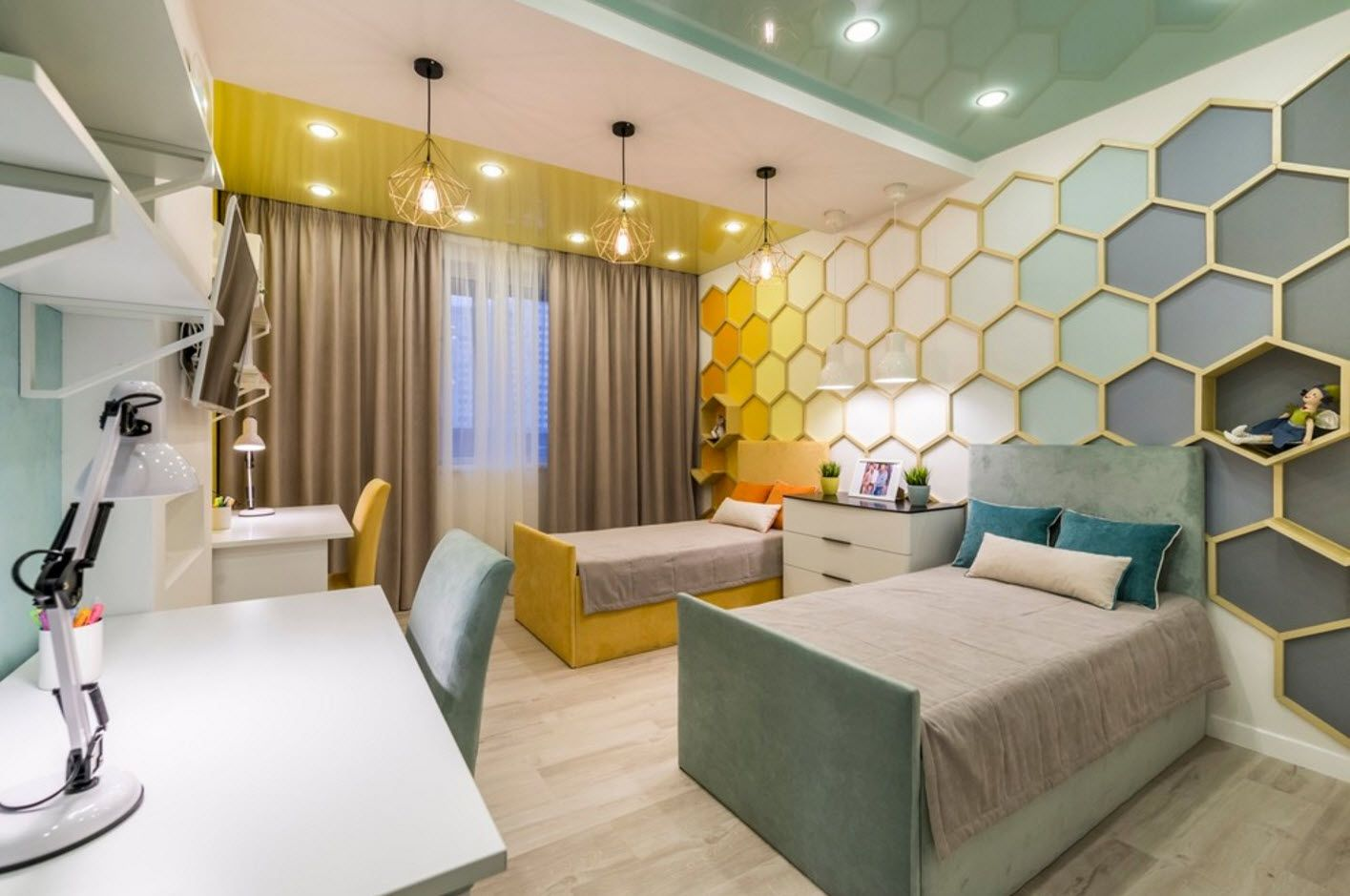 honeycomb wall decoration