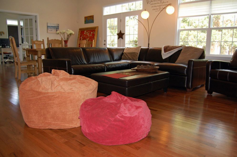 coloful and Translucent bean bag chairs