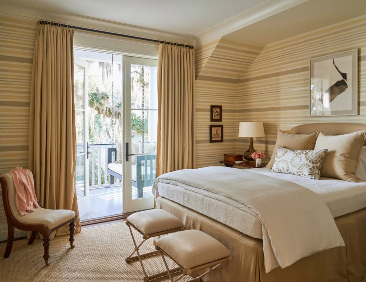 Modern Bedroom Interior Decoration & Design Ideas 2017. Coffe & milk colors for relaxing Classic luxury space