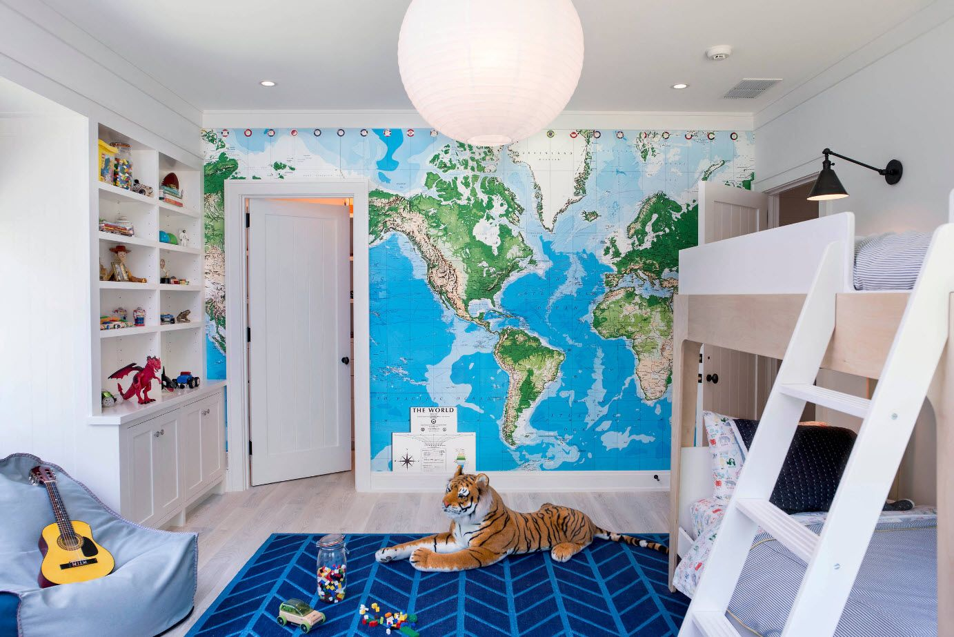100 Best Children's Room Modern Trends Design Ideas 2017. Almost interactive map wallpaper