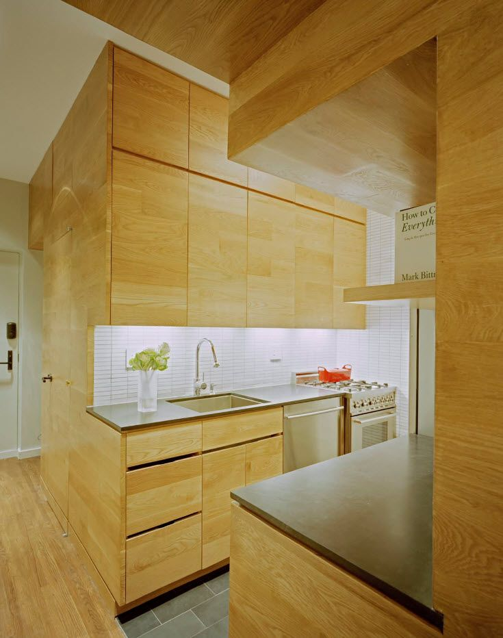 Apartment Interior Design Inspiration Ideas & Trends 2017. Wooden surfaces of the top-modern kitchen