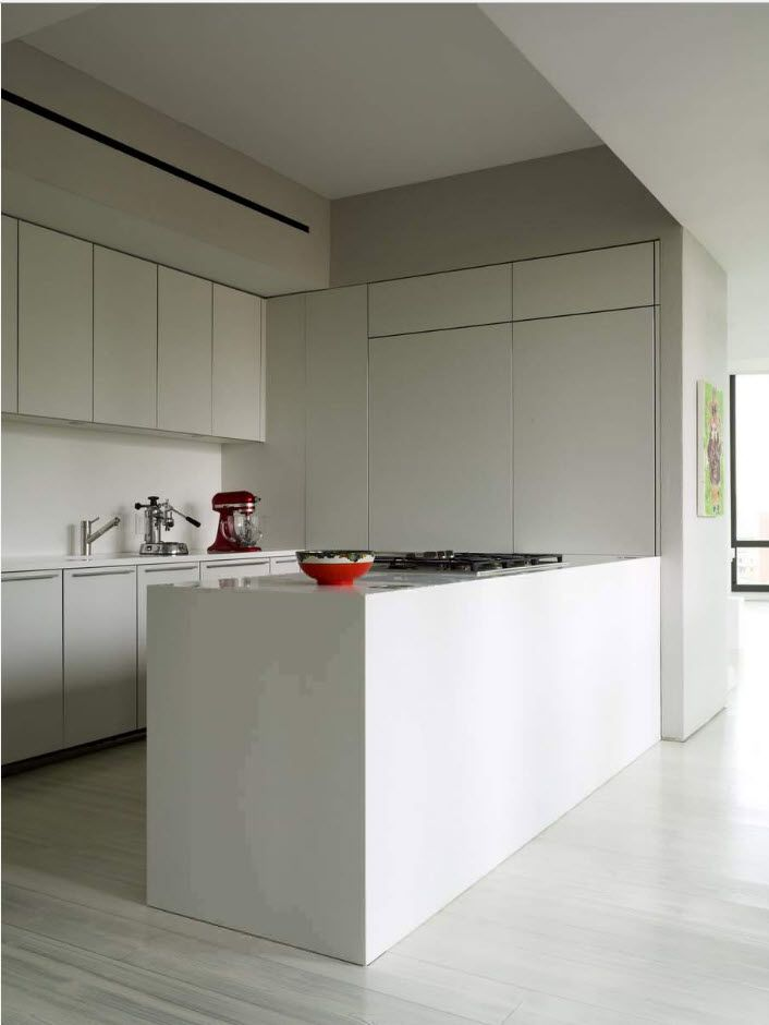 hi-tech matte plastic kitchen facades