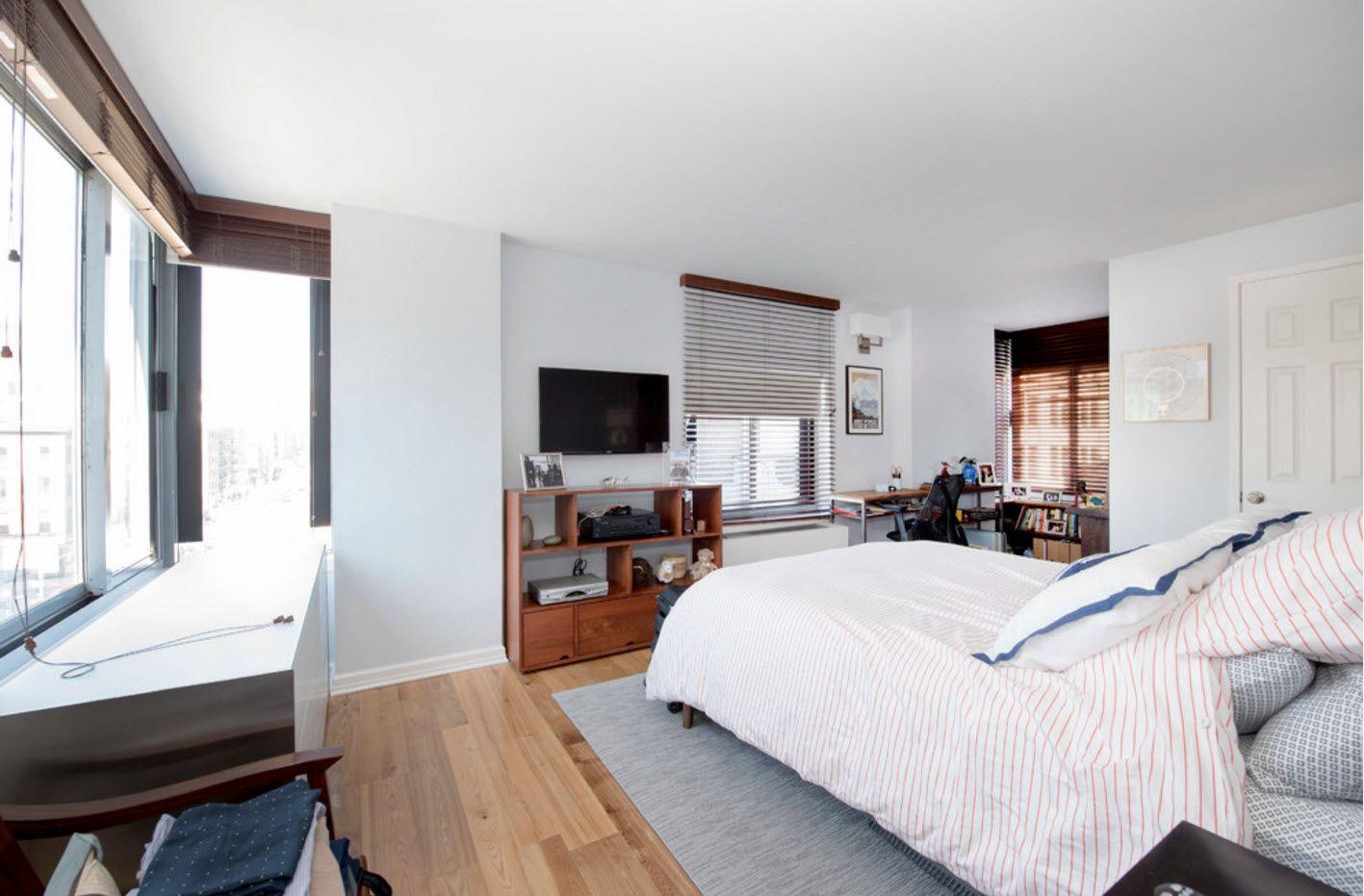 Apartment Interior Design Inspiration Ideas & Trends 2017. Modern functional bedroom