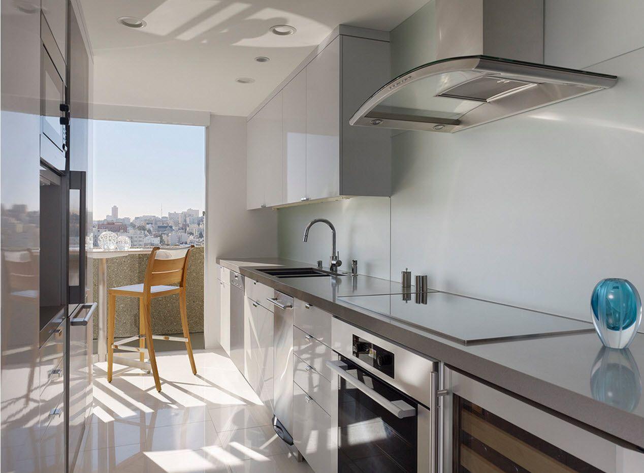 wide screen sindows in the modern kitchen