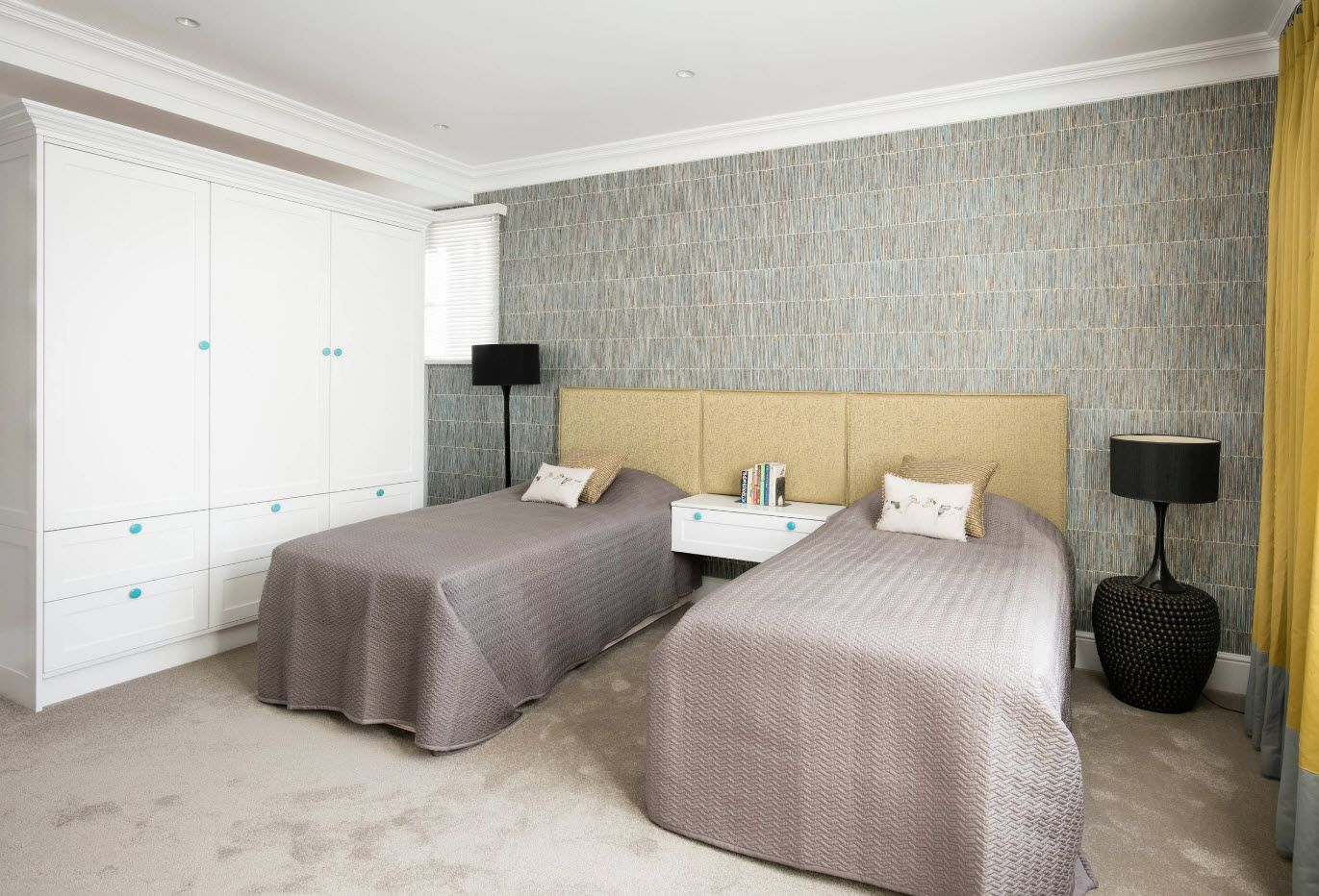 Bold idea for bedroom for two in minimalism