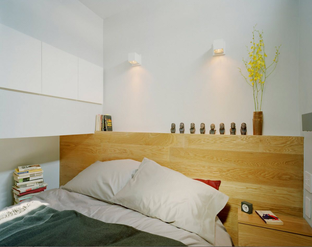 Apartment Interior Design Inspiration Ideas & Trends 2017. Light wooden headboard
