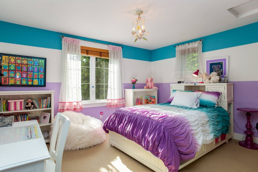 Girlish gradient room decoration and the frameless seat