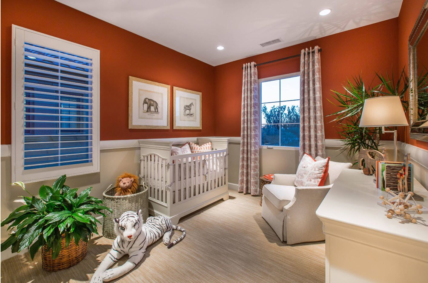 Orange set for nice looking children's room 2017