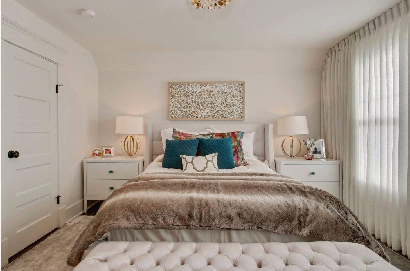 Modern Bedroom Interior Decoration & Design Ideas 2017. Quilted ottoman