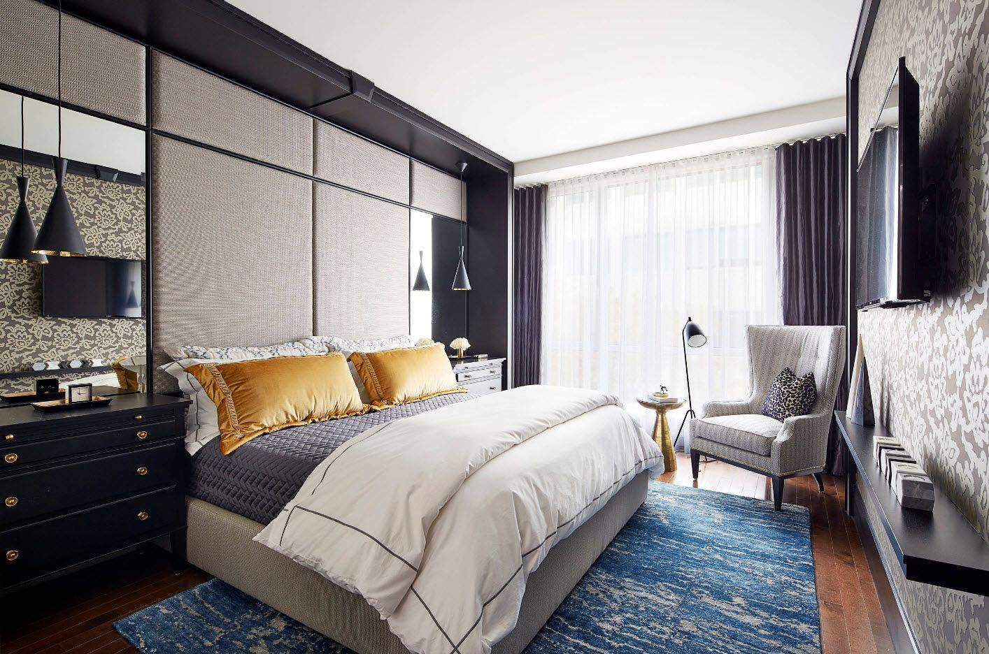 Contemporary style in the modern bedroom 2017