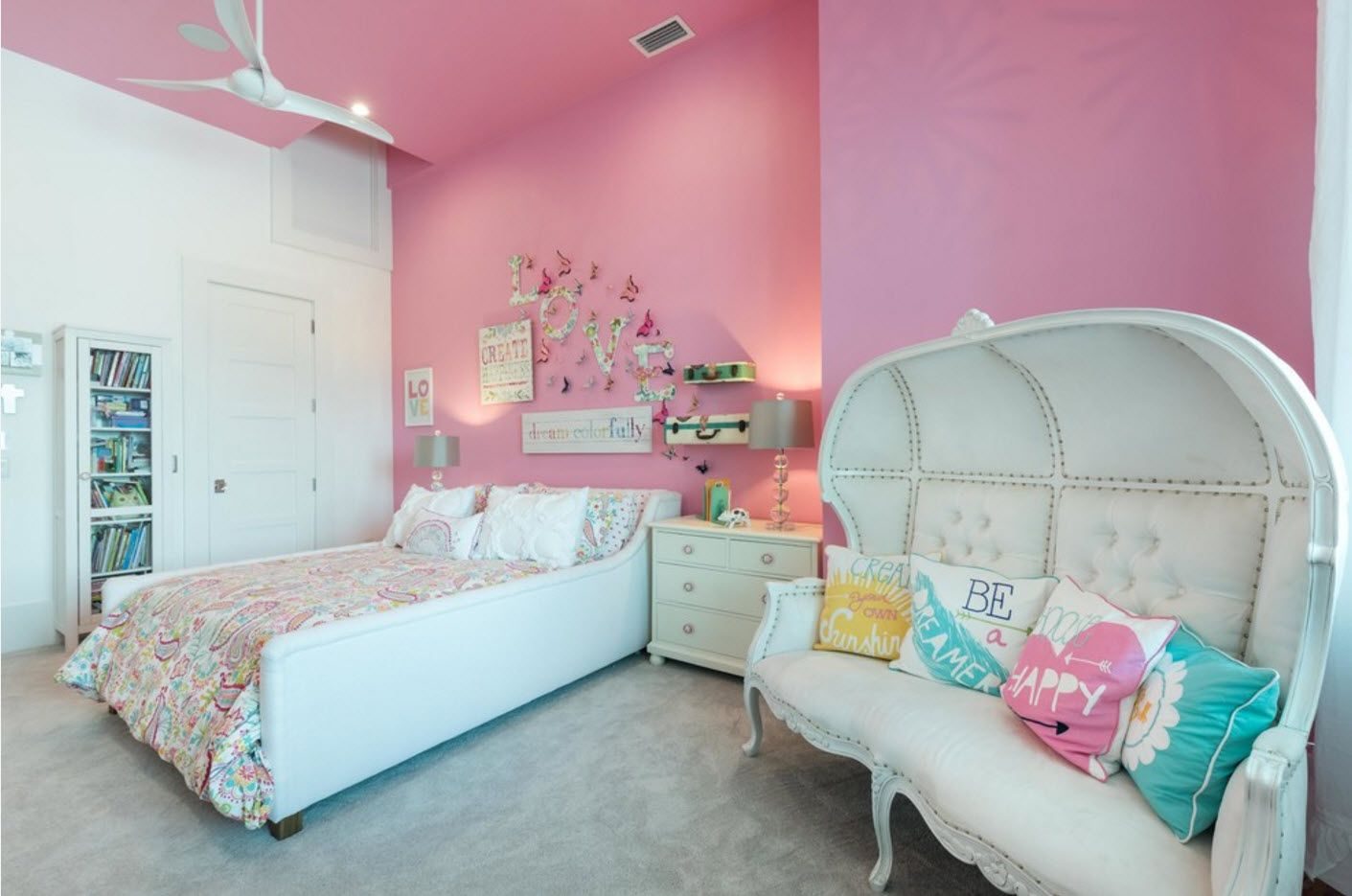 pink palette for wall decoration in kids' room
