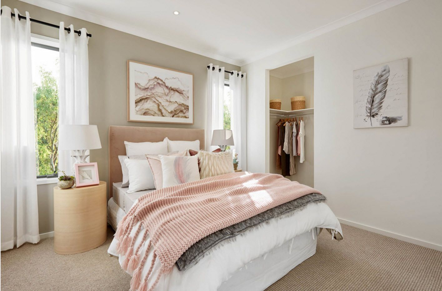 Modern Bedroom Interior Decoration & Design Ideas 2017. Pastel tones for tender atmosphere