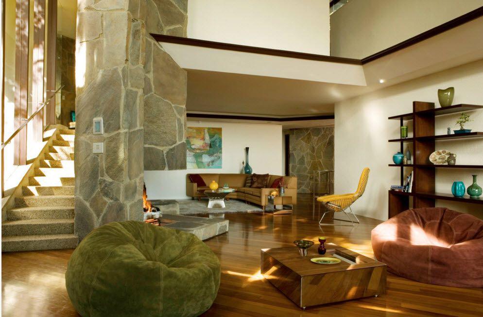 ... Bean Bag Chairs Modern Luxurious Apartment Interior